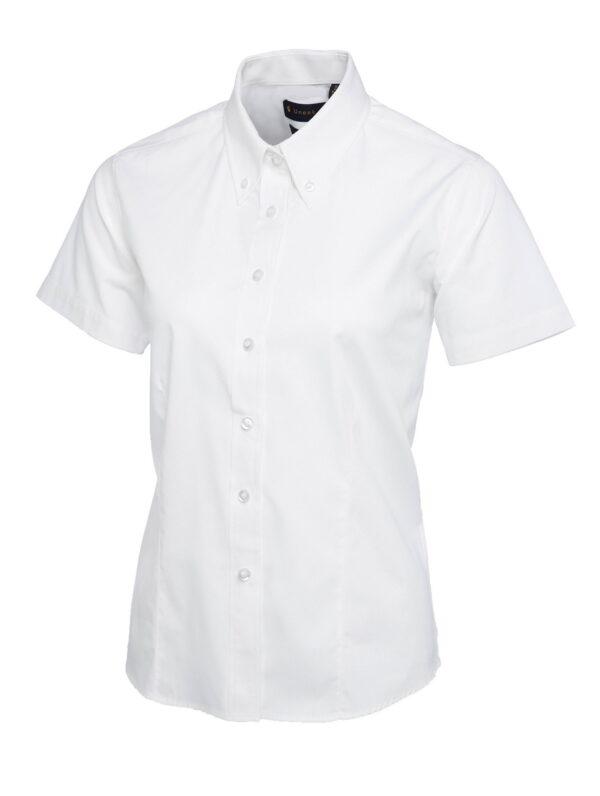 Ladies Pinpoint Oxford Half Sleeve Shirt